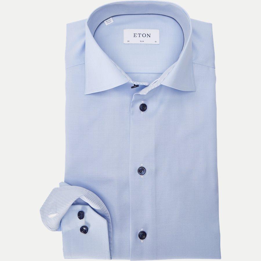 3010-2017 - Signature Twill Skjorte - Skjorter - L BLÅ - 1